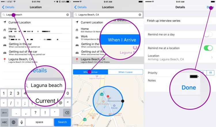 quick tips: how to set location based reminders