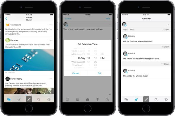 the best apps to schedule tweets on ios