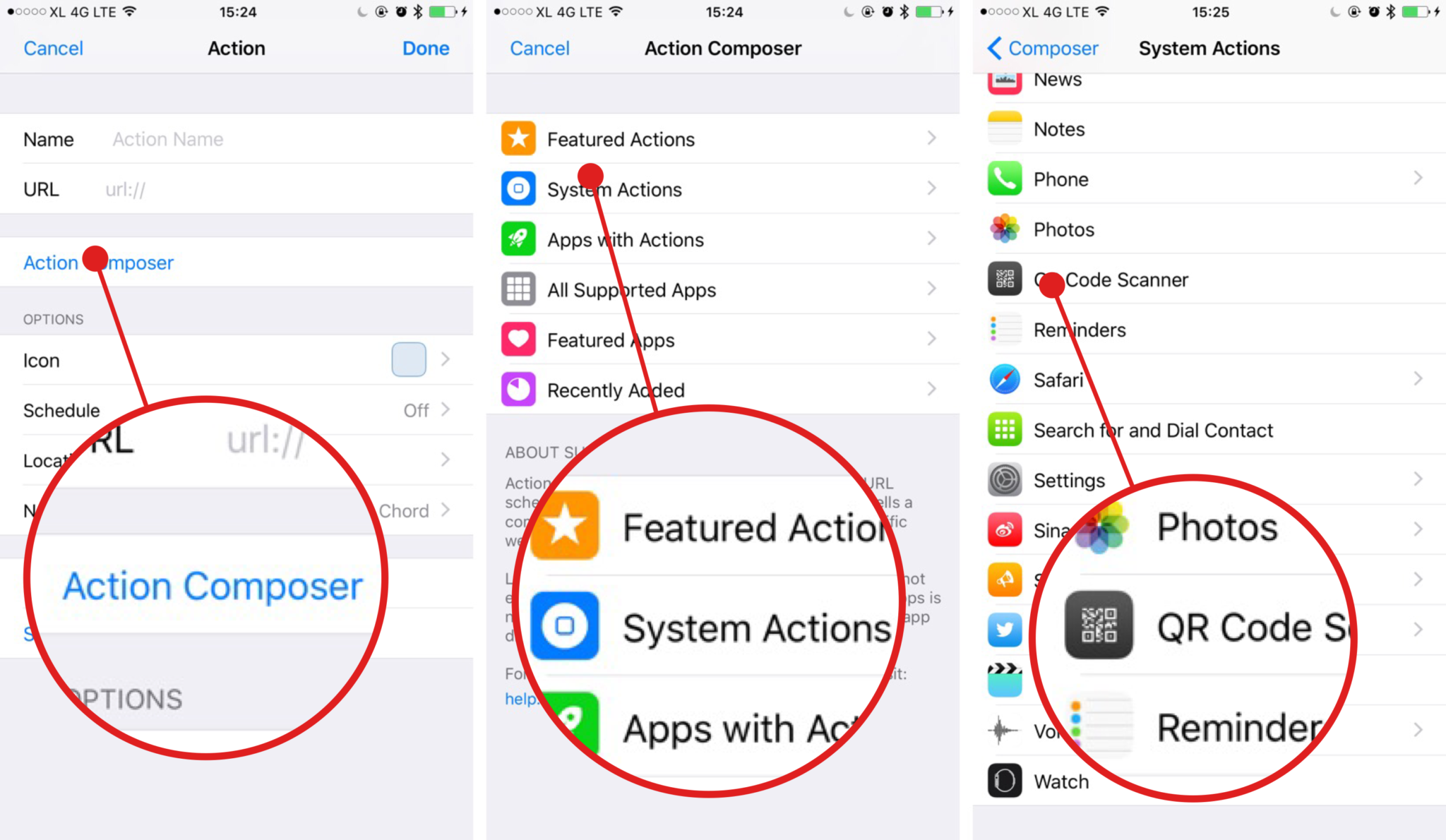 How to use Launch Center Pro to scan QR Code