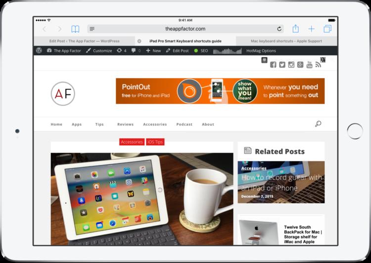 iPad Pro Smart Keyboard shortcuts guide