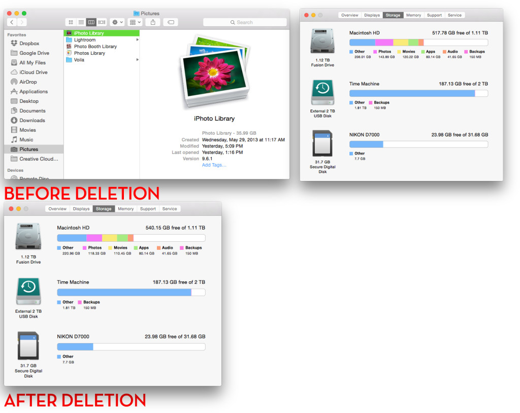 Photos delete from iphoto how to