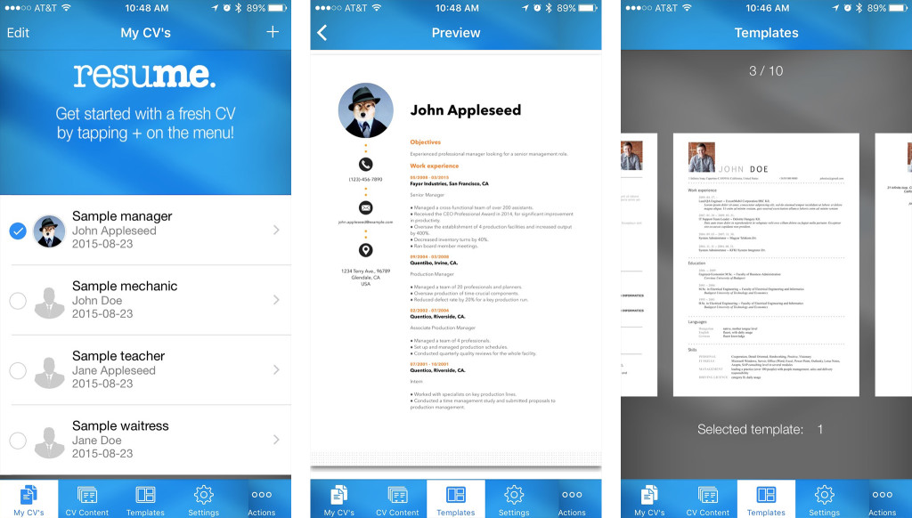 Resume tips: How to create a resume on your iPhone