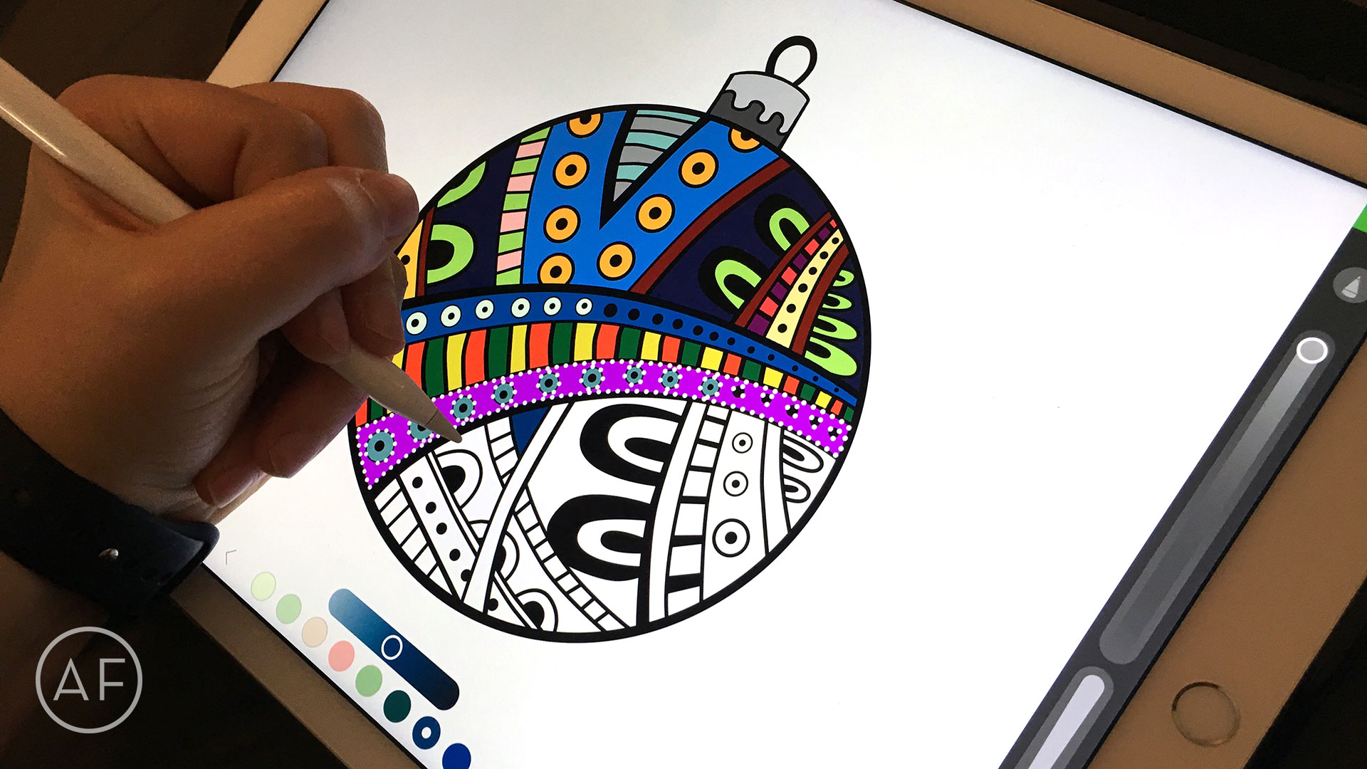 how to color with the ipad pro and apple pencil - Coloring Book App For Adults