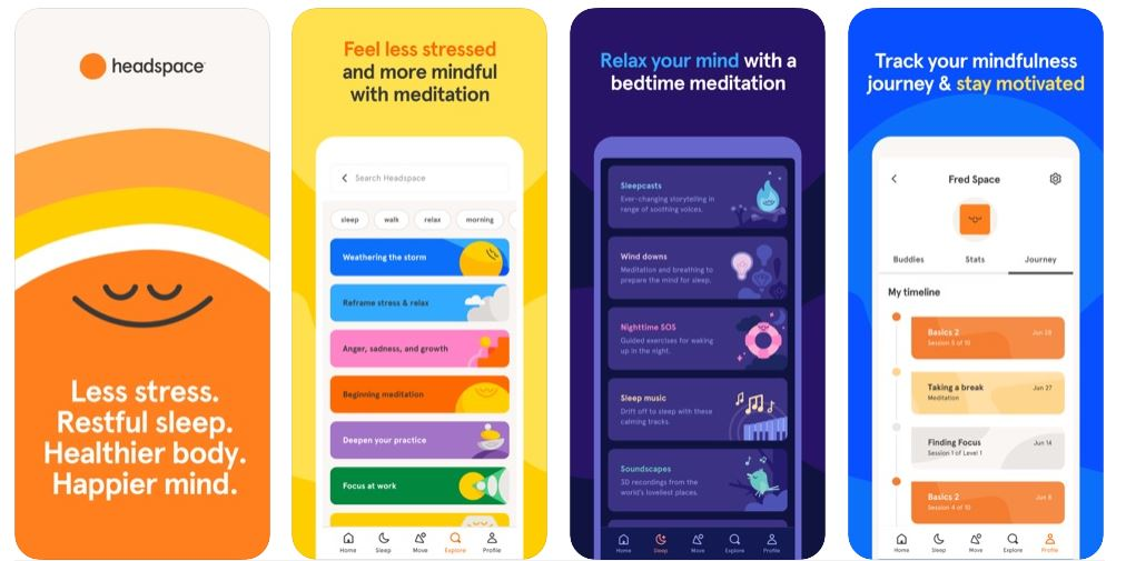 Headspace stress apps