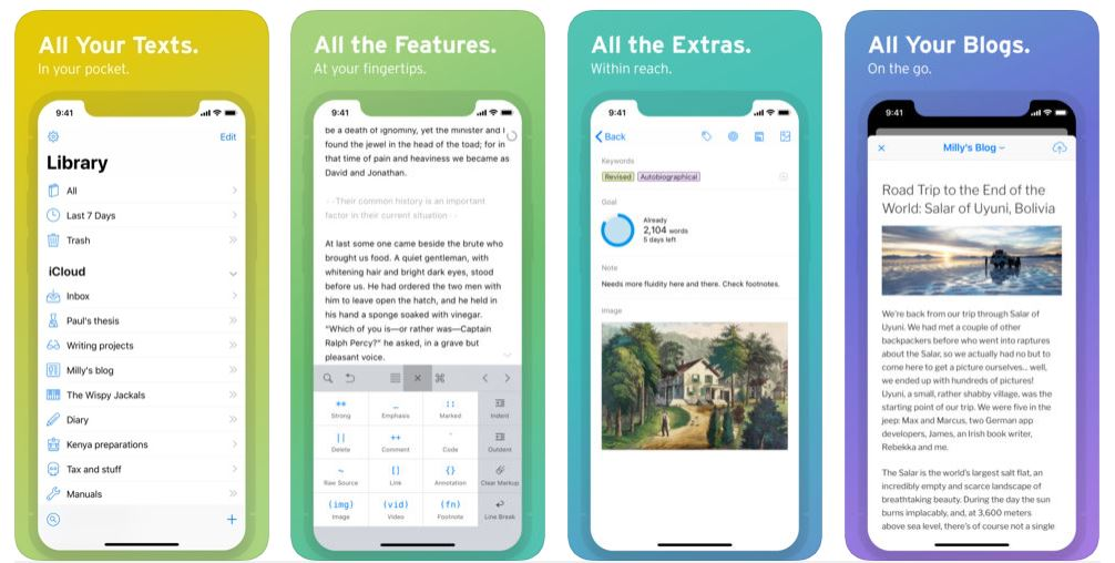 Best Writing Apps for iPhone and iPad in 2019 - The App Factor