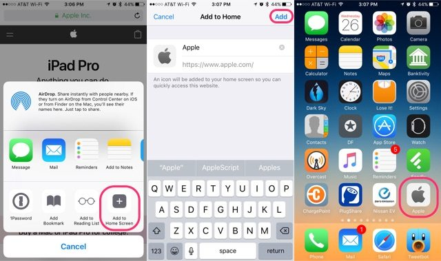 How to bookmark a website on iphone